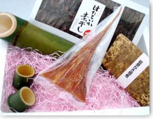 竹取物語;竹とっくりと酒の肴の詰め合わせ